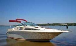 "Like New Condition .1990 Sea Ray 250 Sundancer, 5.7 350 260 hp Mercruiser Alpha I overall length 26'9"",110/12 Volt Fridge Two burner 110/alchol Stove Water Heater 110 Volt / Heat Exchanger Hot Water Shower Head w Macerator Pump Holding Tank 12 volt 110"