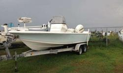 Great Shape 21.6' Tide Water Bay Boat Center Console with a 200hp E-Tech High OutPut Engine Boat does 50mph Drafts 10' Equip With