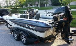 2001 Triton 205 - Very good condition, very few blemish's / flaws. Less then 200 hrs on hull. 2006 Merc Optimax 225 / 23p tempest 214 hrs. Computer print-off from cert merc. no codes. Only synthetic oils have touched it. These are super fast hull capable
