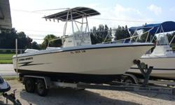 212 , T-top, 200HP Evinrude, Head in console, tackle center, leaning post, large livewell, jump seats, new porta potti, VHF, AM/FM/CD, compass, tandem aluminum trailer. Can be seen at Don's Boat Sales in Gibsonton, FlRead more: