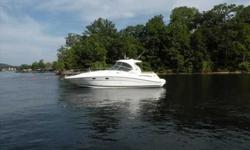 2005 Sea Ray 39 SUNDANCER Sleek hardtop express appeals to quality conscious buyers with a taste for style and luxury. Posh midcabin interior, private forward stateroom gets high marks for tasteful decor, well placed amenities. Flat screen TV is built in