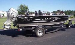 - 2011 LUND 1725 PRO GUIDE- 2011 HONDA 75 HP FOUR STROKE OUTBOARD- LUND TRAILER WITH SPARE TIRE AND SWING TONGUE- LOWRANCE MARK-5X PRO DEPTH FINDER- MINN KOTA TRAXXIS 70 TROLLING MOTOR- BRAND NEW LUND BOAT COVER WITH EASY SNAP SYSTEM- INTERIOR LED