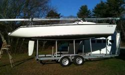 with Tandem axle trailer, Mecury 4HP 4stroke outboard, 2008 North main and jib, spinnaker, All new wiring with L.E.D lamps, new life lines, new bulkhead compass. New Lewmar hatch, Also included is a custom winter pipe frame and cover, $22,499 OBO (860)
