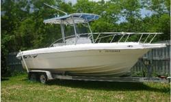 2002 J C Craft Boats Center console,This is a fun to drive center console ready to fish. Top speed of 46 kts cruises nicely at 28 kts. The hull is a deep vee for cutting through waves. The engine is a Mercury 496 EFI. The outdrive is a bravo III which was