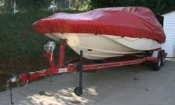 2005 Caravelle Bowrider LOADED with trailer RUNS LIKE A CLOCK!!! 22 foot bowrider 305 V8 Chevy engine Mercruiser; lower unit outdrive Bimini top full cover cushioned bed inserts for front built-in navigation lights seats 10 comfortably toilet/closet CD/FM