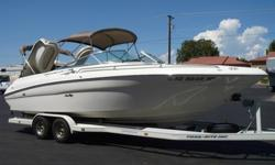1997 Sea Ray 260 Signature Bow Rider ( Huge Open Bow Boat! ) * Mercruiser 454 Magnum MPI 375 hp Only 452 Hours * Bravo 1 Drive with Stainless Prop * Captains Call Thru-Transom Exhaust * Power Engine Hatch * Dual Bimini Tops * Bathroom with Porta Potty *