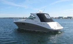 This 39? Sea Ray 38 Sundancer built in 2006 is located in Quincy, MA and is available for showing by appointment only. A very well maintained and professionally serviced vessel.Space is the name of the game on the 38 Sundancer. From the extra-large