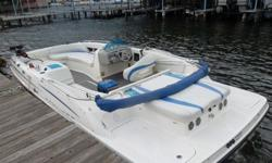 This is the perfect boat for anything from skiing, to fishing, to grilling, to chilling. My deck boat is a 2006 Bayliner Model 217 21' long and 8.5' wide. It has a deep V-hull and will turn on a dime. It is also equipped with an optional fuel injected V6