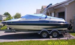 5.0 L MPI with only 56 hrs,I bought this boat brand new in 2006 it does come with the trailer and all the extras it is winterized right now but needs nothing, I had it out once last year which is the reason why i'm getting rid of it,everything works 100%
