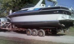 1986 Wellcraft St. Tropaz - 32 feet long - 2011 appraisal was $27,000 but we are open to negotiations. This boat was donated to the American Red Cross in Douglas County by a Lecompton family and is in excellent condition. The Red Cross is selling the boat