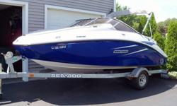 This 18? Sea Doo 180 Challenger 2010 is located in Milford, CT. Powered by the innovative Rotax 4-TEC Jet Drive Propulsion; enjoy the thrill and joy of ultimate freedom on the water. Here crisp handling, incredible spaciousness and cutting edge design put