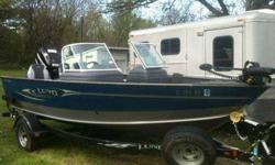 This boat has only been on the water four times. It has been garage kept and very well taken care of. Has a 70lb 24 volt Minnkota power drive V2 trolling motor, Lowrance Mark-5X pro fish finder, Sony XPLOD CD/Stereo/MP3.