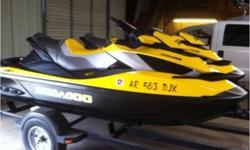 2010 Sea Doo Rxt Is 260, 2010 model Seadoo's RXTIS 260 Horse, Full Suspension,Intelligent Brake,Matching pair, One Has 15 HRS, The Other has 10 HRS,These are like new, with matching trailer also like new,always stored inside,These pwc look like came off