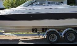 This is a project boat!Info:Manufacturer: Monterey;Model: Montura 236 (Dino Limited Edition);Year: 1996;Engine: Mercruiser, inboard/outboard, 350 cu in, 5.7L V8, LX;Outdrive: Alpha 1 gen II;Trailer: 1996 Venture Trailer: Tandem Axle, Rollers,