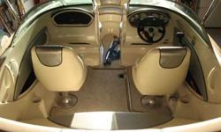 2010 Searay 185 Sport, 2600 weight, 4.3 liter, twenty low hours, bimini top with boot, snap on carpets, compact disc player, depth finder, snap on covers, heavy duty deluxe painted galvanized trailer with hydraulic surge breaks, swing away tongue. The