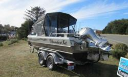 Price Reduced from $25,500. 20 feet jet boat. Only 375 hours. Suspension seats, gps depth finder, dual wipers, heater/defrosters, stereo, eight horse Honda Kicker, 5.7 engine, full canvas. PERFECT CONDITION. CALL 541-661-2949Listing originally posted at