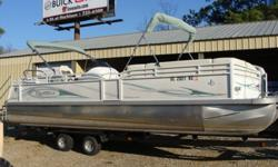 2008 JC NepToon 25TT with Honda 150 HP for 23,995. Trailer not included. Options include depth finder, Clarion CD player and cooler table.
