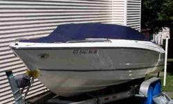 with a 4.3 GXI Volvo Penta motor and an EZ load Venture trailer with easy guide on rails and a power winch, The boat is loaded, only 28.5 hour on the motor only pre-owned 1 season, Am & Fm CD stereo, & dual battery charger, Also comes with full blue snap