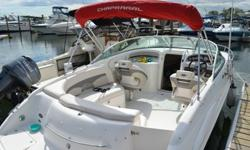 Clean Chaparral 235 SSi Cuddy Cabin powered by a Mercuiser 350 Magnum with 300 horsepower and an Alpha Outdrive. The hours are low with only 234 showing on the hour meter! The boat is loaded with the following options and standard features:Bimini Top with