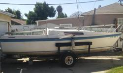 SAILBOAT FOR SALE W/TRAILER & EQUIPMENT - 23' MACGREGOR $1,200 OBO (HUNTINGTON BEACH)PLEASE MAKE ME AN OFFER, I PREFER TO SELL BOAT AND TRAILER TOGETHER.23 FOOT SAILBOAT FOR SALE W/TRAILER & EQUIPMENT - 23' MACGREGOR SAILBOAT (WHITE W/BLUE TRIM), CLEAN &