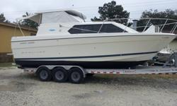 Major drop in price and the best deal on the web for a cruiser. Big and ultra clean and runs excellent. Sleeps 6 and needs no work turn key vessel. I do have a dual axle trailer for the boat for 2k additional deal. The triple is 5k if you wish to have.