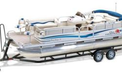Call Andy or Melissa @ 218-368-1185BRAND NEW - Only three hrs on motorIncludes Brand New Siccor TrailerThe SUN TRACKER PARTY BARGE 24 Classic Series is a family fishing pontoon you can literally use 24/7. NEW FOR 2011. To give you even more room to roam