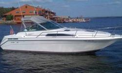 Offered for sale, this meticulously maintained 1991 Sea Ray 270 Sundancer with single engine 7.4L Mercruiser I/O and custom triple-axle Load Rite trailer. This boat offers