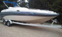 Don't miss this one! $24,500 OBO! It's a steal because we need to sell it due to life changes. This 1999 Crownline Deck Boat is a beauty. It has a newly installed 5.7 GM Mercruiser engine with less than 50 hours on it. It is 24' with a 2 foot swim deck.