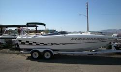 VERY NICE CHECKMATE CONVINCOR 242 CLOSED BOAW CUDDY CABIN. SAME BOAT AS THE NEW 260 ZT. NEWER 502 MAG EFI JUST INSTALLED. WE SOLD THIS BOAT BRAND NEW IN 2000. ELECTRIC HATCH,BOLSTER SEATS,HUGE STEREO,COCKPIT COVER,BIMINI,DUAL BATTERIES W/ SWITCH,TRIM TABS