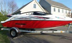 2009 SeaDoo Speedster 200 in excellent condition with only 70hours!! 20 foot boat. Twin 4tec engines=430hp. If you have never been in one of these it is jaw dropping performance. Or simply cruise with the ultra quit low emission engines at idle. Will seat