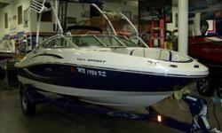 2010 Sea Ray 185 SPORT Only 58 pampered hours on this Sea Ray 185 Sport Tower. Built for Fun and dressed in Sea Ray's most popular color combination, this boat is all about the water sports. Bring your skis, tubes, and wake boards for a full day of fun in