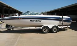 """2000 Mastercraft 230SV, purchased new in 2002. Indmar 330 HP EFI V-8 5.7L engine w/Northstar ignition; 236 hours, 4 blade 14"""" prop. Depth finder, Pioneer AM/FM/CD stereo w/four speakers & iPod input, automatic bilge, courtesy lights, electric engine hatch"""