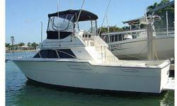 A classic top of the line boat. Tiara yachts makes a very strong and safe boat. This is a great family cruiser and sportfishing yacht. It has twin closed cooling big block 454 crusader inboard gas engines Starboard motor has been recently rebuilt. The