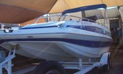 222 Tunnel Hull Deckboat - Has MerCruiser 350MAG - 300HP - 78 Hours - Custom Bimini - Custom Boat Cover - Custom Trailer - Wash Down Pump - Full Gauge Package - Inner Liner Construction - Boat is made of 100% Fiberglass - No Wood! AM/FM/CD - Clean