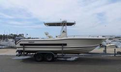 2002 Pursuit 2470 Center Console boat for sale in Sebastopol, CA. Repowered in 2012 with a Yamaha F250BTXR motor that currently has 322 hours. Electronics include latest Garmin 1040xs display with GPS/Radar/Fishfinder, and 2 separate VHF radios. Pacific