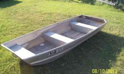 For Sale... 10 ft. Flat Bottom Aluminum Boat $250. Boat is in good shape, as is (no oars). Call Norm