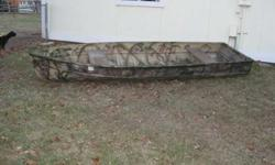 i have a 14ft aluminum duck boat not to sure what brand it is, it floats well has no holes and is in deceant condition if interestead please contact me at 701 200 1558Listing originally posted at http