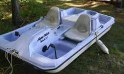 Exceptional condition it this four man paddle boat with cooler. Paint has faded but is in fantastic condition. Try it out on our lake before it gets too cold! You can call me at or 218/678-2541 Listing originally posted at http