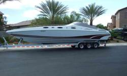 IF YOU HAVE A MOTOR HOME,A MOTOR CYCLE OR ANOTHER BOAT THAT YOU WANT TO TRADE UP, LET ME KNOW ALL TRADES PLUS CASH DIFFERANCE WILL BE CONSIDERED!!!Spectacular Baja High Performance Boat 38' footer! wow... Flash!!!! We JUST PUT two NEW 454 MOTORS IN THIS