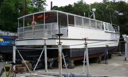 2007 50' Custom Aircat Power Catamaran Commercial 60 Passenger Ferry - with her twin 900 hp Yanmar engines she can fly at 50 knots in calm waters. She is jet assisted with twin fans forward that continually keep her light in the water for maximum planing.