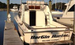 1987 31 feet pacemaker sport fish. In good shape new 5.7 mercruisers with only 160 hrs. Interior redone in 2011, has outriggers and sleeps 6. 203 243 8248Listing originally posted at http
