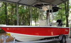 2007 1901 Mako C/C Bay Boat With 2008 150 Opti Max. Bought boat new in 2008. Color is Red and Bone. Motor has around 75 hours or less. Motor still under warranty. This boat has alot of extras. Has a 24 volt wireless motor guide trolling motor. Custom