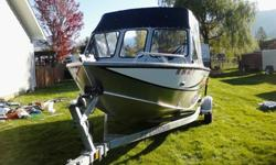 fish finder, Dual wipers, Spare tire, Bimini top, side curtains, fish drop, rod holders and rod storage, 150 hours on the motor. This is a great deal for someone looking to get the most bang for the buck.Give us a call 503-655-0160 Check us out online