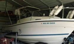 Up for sale is a 1998 Bayliner Trophy 23ft fiberglass boat. The boat has a 302 inboard/outboard motor that runs strong. Boat has been garaged kept. The cabin sleeps 2 on the bed and a small cubby hole in the cabin will sleep two more. The cabin also has a
