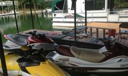 Party/family pontoon totally gutted and rebuilt from the bottom up through and through. Fully enclosable,all brand new seats, radio,floor,carpet,tables,bathroom,totally rewired,etc..2007 sea doo gti se 4-tec,2003 yamaha xlt 1200,2003 polaris msx140 ho,and
