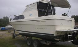 2004 Bayliner 28 cruiser with hard top and full enclosed cockpit with air conditioning and heat. Loaded with room and sleeping abilities. Can sleep up to 6 and dinette table seats 4 while eating. Go to Bahamas or just cruiser around and enjoy the day or