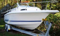 This 22? Wellcraft 220 Coastal Cuddy is located in Southbury, CT. An excellent walk-around sport fisherman with amazing turn of speed the 220 is known for its soft ride and stability. She?ll handle a variety of sea conditions and is equally at home on the