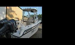 1997 Grady White 248 Voyager. Bulletproof optional twin 150 HP Yamaha OX66s with approx 900 hours 3 New Batteries (aug. 2011) Aux 56 gal fuel tank ( holds 160gal total ) Hardtop outrigger mounts ( no poles) Pulpit with anchor roller Ritchie Compass Uniden