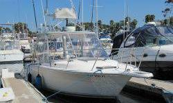 This Pursuit 2700 Offshore is comfortable cruising the bay, or heading offshore for a day of fishing. Shows great with New 3/4 Enclosure complimenting owner?s high standards. Fishermen will enjoy Full Tower w/controls, Raymarine C80 w/Radar, and Offshore