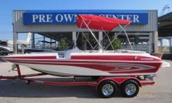 2008 20' DECK BOAT,WHITE AND RED,BIMINI TOP,SNAP IN CARPET,STEREO,DEPTH FINDER,PRE WIRED FOR TROLLING MOTOR,TWO CASTING CHAIRS,VERY LOW HOURS 42,THIS BOAT IS CLEAN INSIDE AND OUT.FOR MORE INFO PLEASE CONTACT GARY AT 214-803-3146
